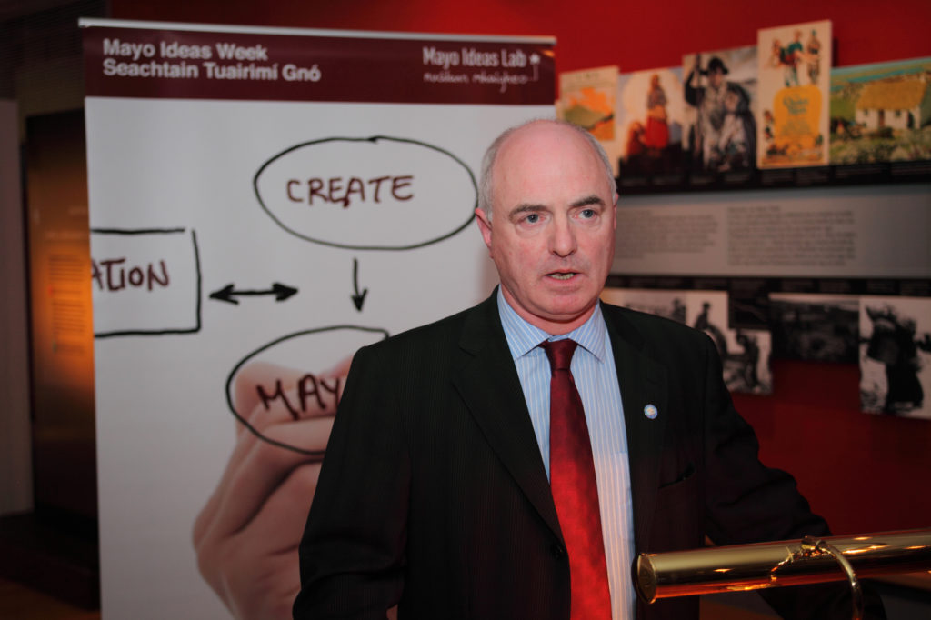 Peter Hynes, Mayo County Manager launching Mayo Ideas Week.